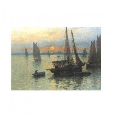 La pescuit - tablou pe sevalet