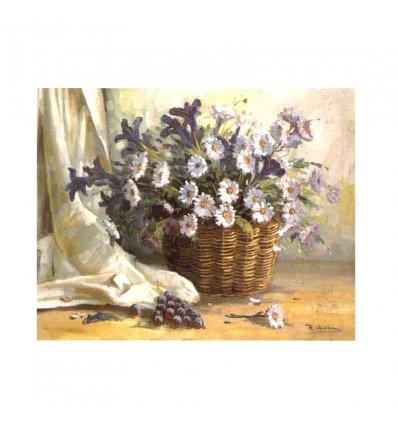 Cosul cu flori - tablou pe sevalet