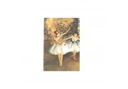 """Doua balerine pe scena"" Edgar Degas - tablou pe sevalet"