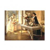 Familie aristocrata - tablou pe sevalet