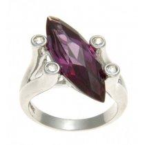 Inel din argint cu cubic zirconia oval violet