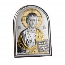 Icoana argintata cu Iisus Hristos