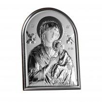 Icoana pe foita de argint cu Maica Domnului si Pruncul