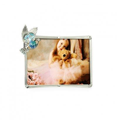 Rama foto cu porumbel decorat cu cristale Swarovski