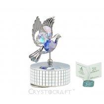 Porumbel muzical cu cristale Swarovski