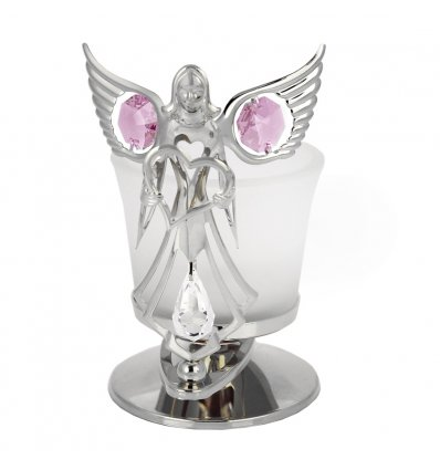 Candela - ingeras, decorat cu cristale Swarovski