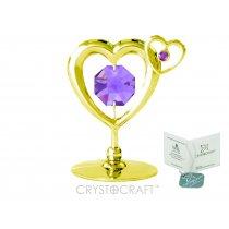 Figurina cu cristale  Swarovski, reprezentand o inimioara
