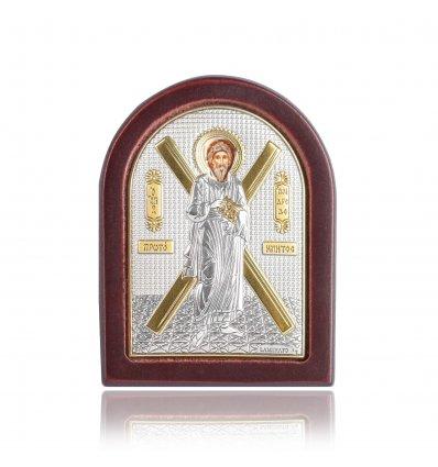 Icoana pe foita de argint cu Sfantul Andrei