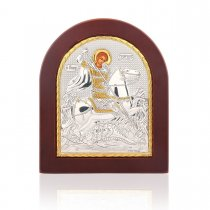 Icoana din argint cu Sfantul Gheorghe
