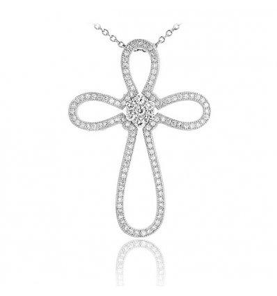 Pandantiv Fine Luxury Silver Cross Argint 925