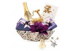Purple Christmas - Cos de Craciun cu sampanie