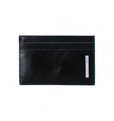Suport Carduri Piele Neagra Piquadro
