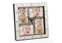 Ceas de perete cu 4 rame foto