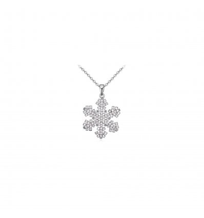 Colier - Snowflake with crystals