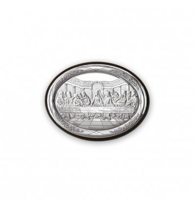 Icoana argintata Cina cea de Taina 10*7.5 cm
