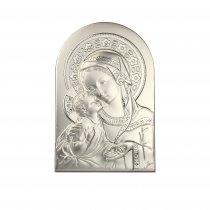 Icoana argintata Maica Domnului si pruncul 30*20 cm