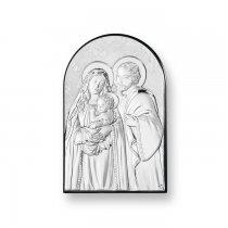 Icoana argintata color Sacra Familie 17*11 cm