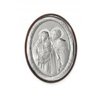 Icoana argintata Maica Domnului si Pruncul 18*13 cm