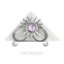Suport argintiu de servetele cu cristale Swarovski