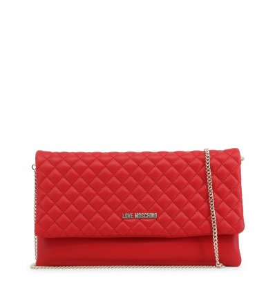 Clutch Love Moschino (Red Metalic)