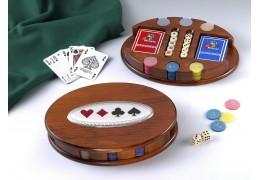 Caseta Deluxe din lemn cu jocuri de societate