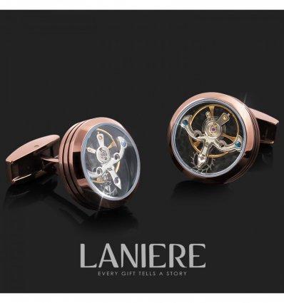 Butoni Tourbillon cu mecanism de ceas- LANIER