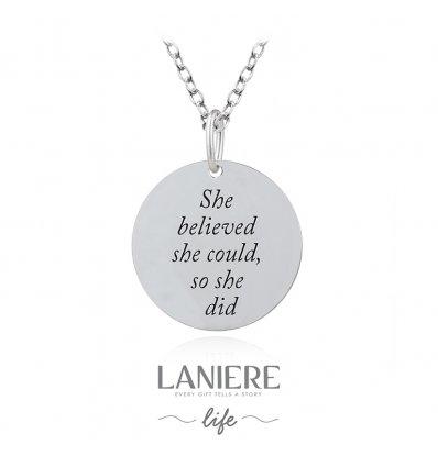 Colier din argint Believe in You