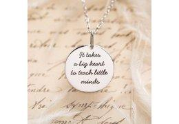 For My Favourite Teacher -LANIERE Life - Colier din argint