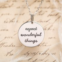 "Colier din argint 925% ""Expect Wonderful Things"" - LANIERE Life"