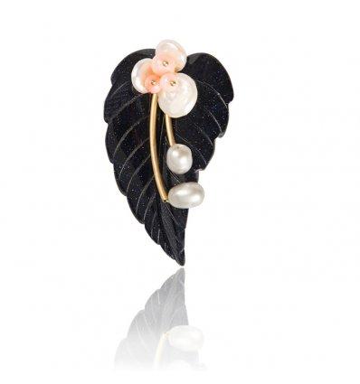 Brosa cu perle naturale - PARURE MILANO -