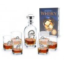 Sticla de Whisky si Set 6 pahare made by Chinelli Italy