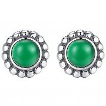 Cercei Argint Royal Emerald