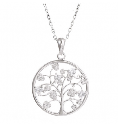 "Colier din argint 925% - ""Cristal Tree of Life"""