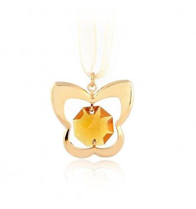Pandant Fluturas cu cristal Swarovski - marturie botez