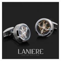 Butoni Tourbillon Silver cu mecanism de ceas - LANIERE