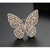 Brosa cu cristale cubic zirconia Luxury Butterfly