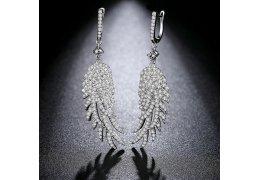 """Cercei candelabru cu cristale """"Crystal Feathers"""""""