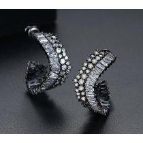 Cercei cu cristale Swarovski Elements Black Elegance