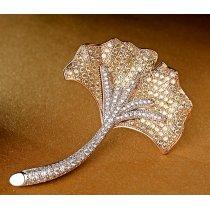 Brosa cu cristale cubic zirconia Gold Radiance