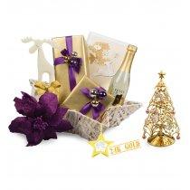 Purple 24k Gold Christmas - Cos de Craciun
