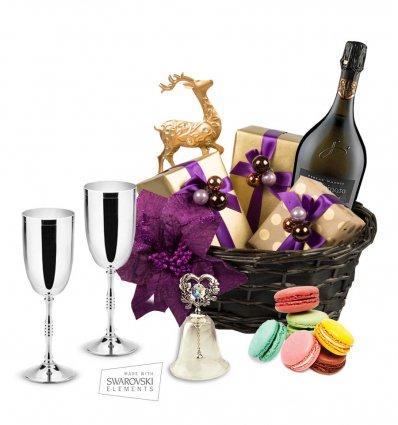 Cos cadou pentru Craciun Sparkle Sweets Delights