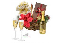 Luxury Golden Gift Basket Chinelli Italy