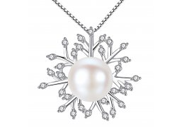 Luxury 925 Silver Necklace Snow Flake