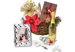 Chinelli Italy Exquisite Luxury Christmas Basket - Cos de Craciun