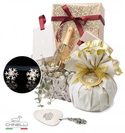 Mrs. Claus - Luxury Chrstmas Basket for HER Chinelli Italy