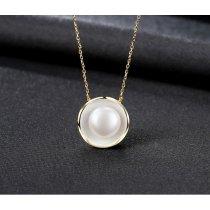 Colier din argint placat cu aur decorat cu perla alba Edith