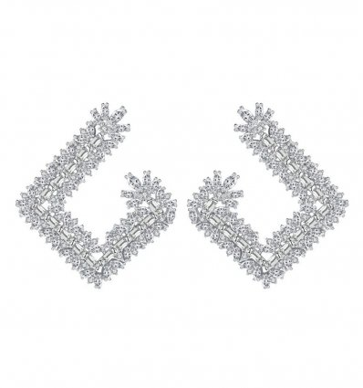 Cercei cu cristale Swarovski Elements Crystal Diamonds