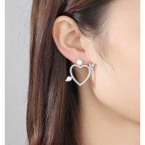 Cercei cu cristale Swarovski Elements si perle Crystal Heart