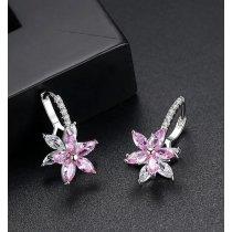 Cercei Pink Sparkling Flower
