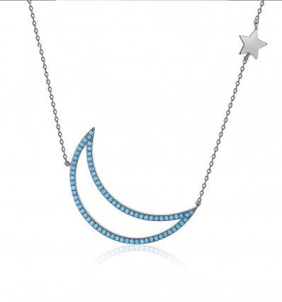 Colier Blue Moon - cristale Swarovski Elements